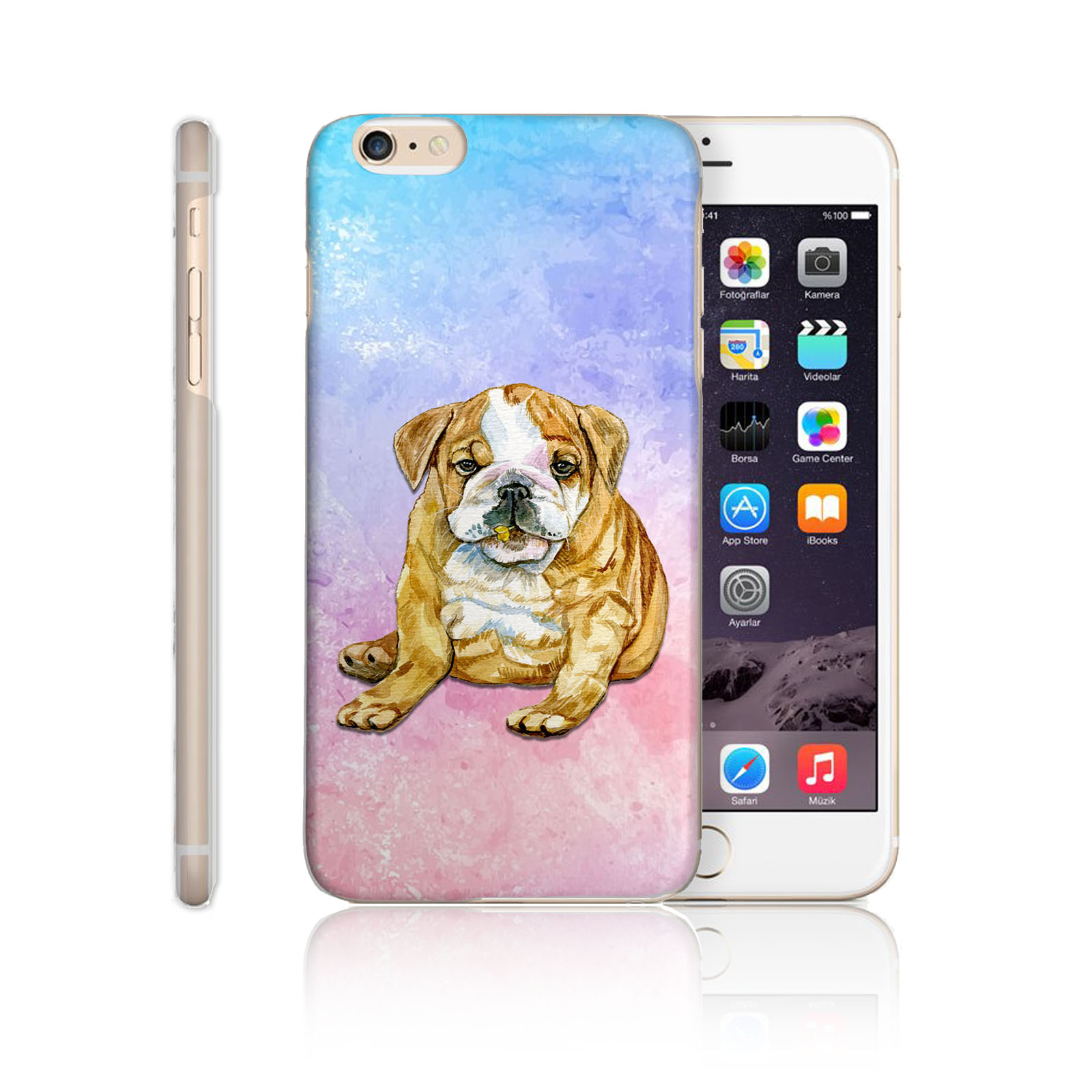 HAIRYWORM-WATERCOLOUR-ANIMAL-PAINTING-PRINT-HARD-PHONE-CASE-FOR-APPLE-SAMSUNG