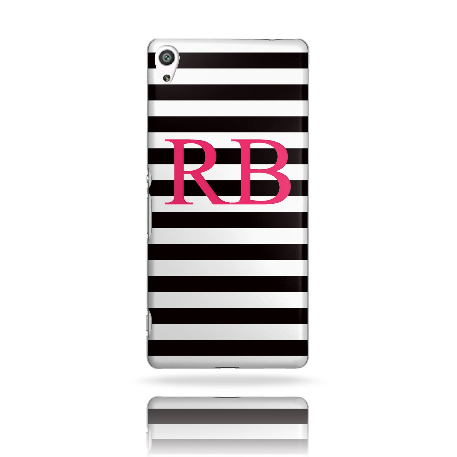 Case Design personalised bling phone cases : ... T13) PERSONALISED INITIALS BLACK STRIPES PLASTIC PHONE HARD CASE COVER