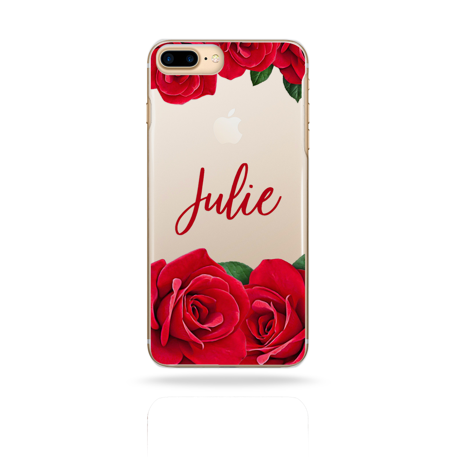 PERSONALISED-INITIALS-FLOWER-IPHONE-6-7-8-PLUS-X-CASE-CLEAR-HARD-COVER-FOR-APPLE